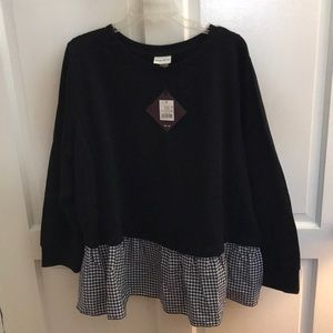 Target Sweatshirt with with cotton ruffle.